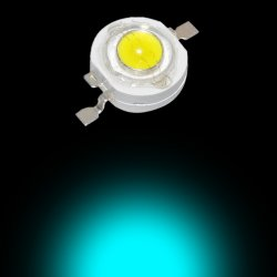 1W Power LED - Cyan Turkuaz