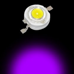 3W Power Led 390nm Super Actinic