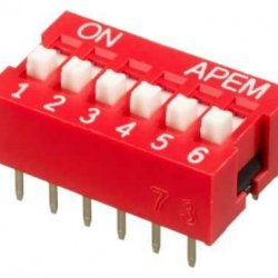 6 lı Dip Switch 2.54mm ON-OFF