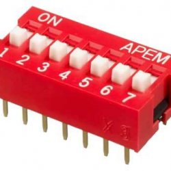 7 li Dip Switch 2.54mm ON-OFF