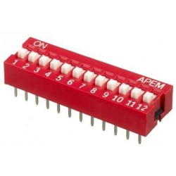 12 li Dip Switch 2.54mm ON-OFF