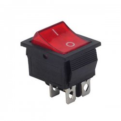 21x15mm Işıklı On-Off Switch Anahtar 4P