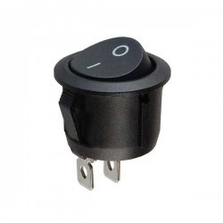 16mm On-Off Power Switch Anahtar 2P - SiYAH